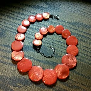 Tumbled Carnelian Statement Necklace 18""